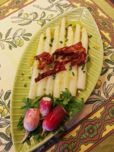 White Asparagus with Crispy Prosciutto