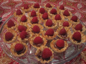 Nutella Raspberry Mini Tarts