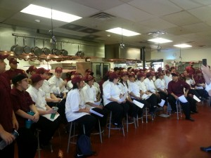 A recent seminar at the Escoffier School of Culinary Arts in Austin, Texas