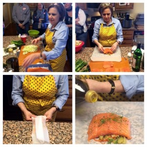 Shelbie's parchment salmon demo