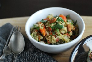 Quinoa Salad with Almonds, Lime, & Cilantro