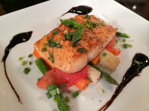 Christa's salmon dish on The Balancing Act