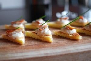 Smoked Trout & Endive Puree Canape